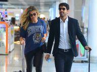 Grazi Massafera é clicada com namorado, Patrick Bulus, em aeroporto do RJ. Fotos