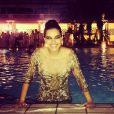 Mariana Rios foi parar na piscina do Copacabana Palace depois da chegada de 2014: 'E não é que eu fui parar na piscina do Copa?!!! De Patrícia Bonaldi e tudo!!! Rs.... Paty seu vestido ja está lavado!!!!! #2014 #amooooo', escreveu a atriz sobre o modelito assinado pela amiga e estilista