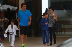 Vanessa Giácomo vai à academia na companhia dos filhos e marido. Fotos!