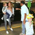 Gisele Bündchen esteve no Brasil em agosto com os filhos, Benjamin e Vivian Lake