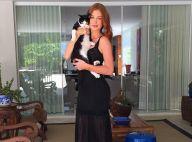 Marina Ruy Barbosa posa com pet e fãs elogiam: 'Uma gata com outro gato'