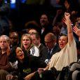 Elas curtiram de perto a partida entre o Brooklyn Nets e o Atlanta Hawks em Nova York, nos Estados Unidos