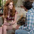 Natasha (Sophia Abrahão) se decalra para Thales (Ricardo Tozzi), em cena de 'Amor à Vida'