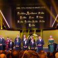 Apresentada pela brasileira Fernanda Lima, que também comandou o sorteio dos grupos da Copa do Mundo, a cerimônia desta tarde consagrou o ex-jogador Pelé e o atual Cristiano Ronaldo