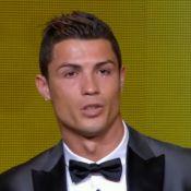 Cristiano Ronaldo chora ao receber prêmio de melhor jogador no Bola de Ouro 2013
