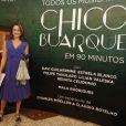 Zezé Polessa prestigia o espetáculo 'Todos os Musicais de Chico Buarque em 90 Minutos', no Rio