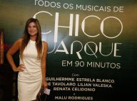 Cristiana Oliveira e Tiago Abravanel prestigiam espetáculo sobre Chico Buarque