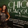 Thalita Rebouças prestigia o espetáculo 'Todos os Musicais de Chico Buarque em 90 Minutos', no Rio