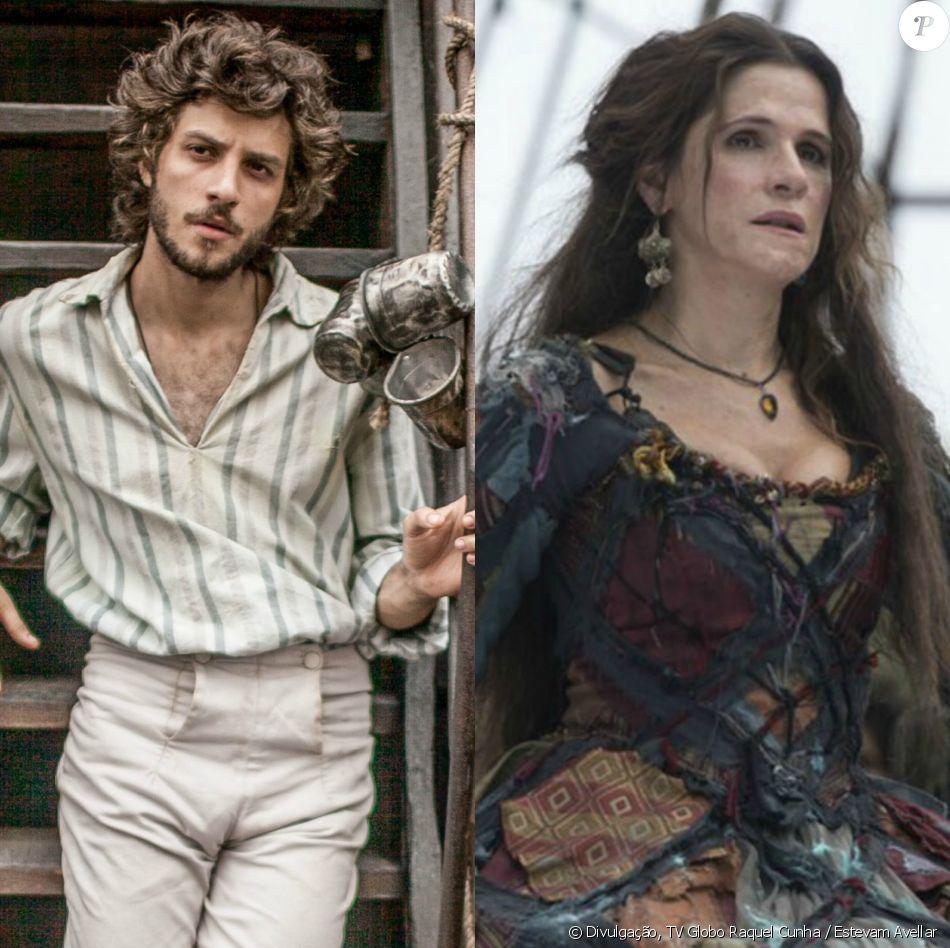Chay Suede e Ingrid Guimarães serão casados em 'Novo Mundo', próxima novela das seis. O s atores vão interpretar Joaquim e Elvira