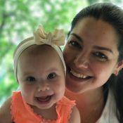 Thais Fersoza festeja primeiros dentinhos da filha, Melinda: 'Sorriso delicioso'