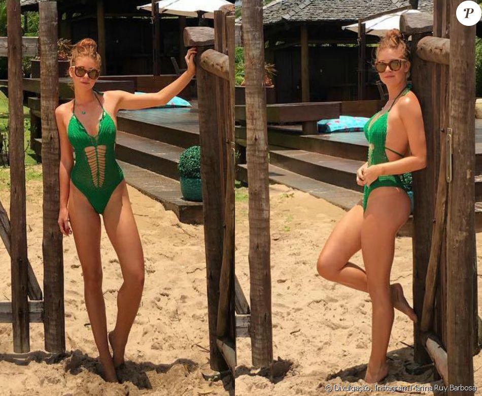 O maiô de crochê usado Marina Ruy Barbosa em Barra Grande ... Jennifer Aniston Instagram
