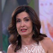 Fátima Bernardes chora no 'Encontro' ao se despedir para férias: 'Emocionada'