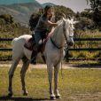 Letícia Colin se prepara para 'Novo Mundo' com aulas de equitação