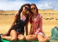 Marina Ruy Barbosa curte praia com Paula Fernandes em Fernando de Noronha