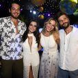 Casais: Giovanna Ewbank e Bruno Gagliasso posam com o irmão da atriz, Gian Luca Ewbank e a namorada, também atriz, Giovanna Lancellotti