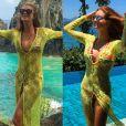 Marina Ruy Barbosa reaproveitou um look de praia já usado em uma viagem que fez a Angra dos Reis