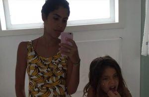 Bela Gil põe filha para escovar os dentes com argila e menina diz: 'Eca'. Vídeo!