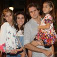 Casada com  Leonardo Nogueira,  Giovanna Antonelli é mãe das gêmeas Antônia e Sofia, de 6 anos