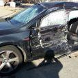 Acidente envolvendo o filho de William Bonner e Fátima Bernardes causou estrago no carro onde estava o jovem com amigos
