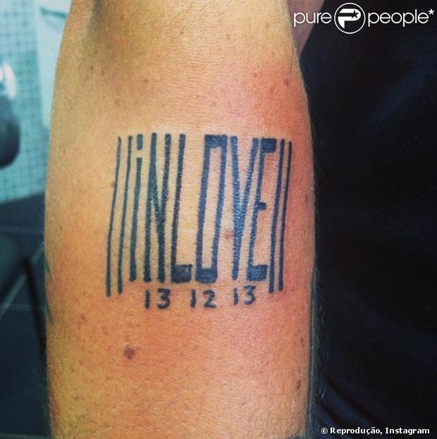 Thammy Miranda posta foto de tatuagem que fez para homenagear a namorada, Andressa Ferreira, nesta quarta-feira, 22 de janeiro de 2014; o casal está junto há um mês