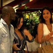 Bruna Marquezine janta com Thiaguinho e Fernanda Souza em shopping do Rio