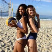 Aline Dias X Barbara França:atrizes de 'Malhação' se encaram em partida de vôlei
