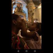 Taís Araújo brinca com a filha, Maria Antônia, em igreja da Bahia. Vídeo!