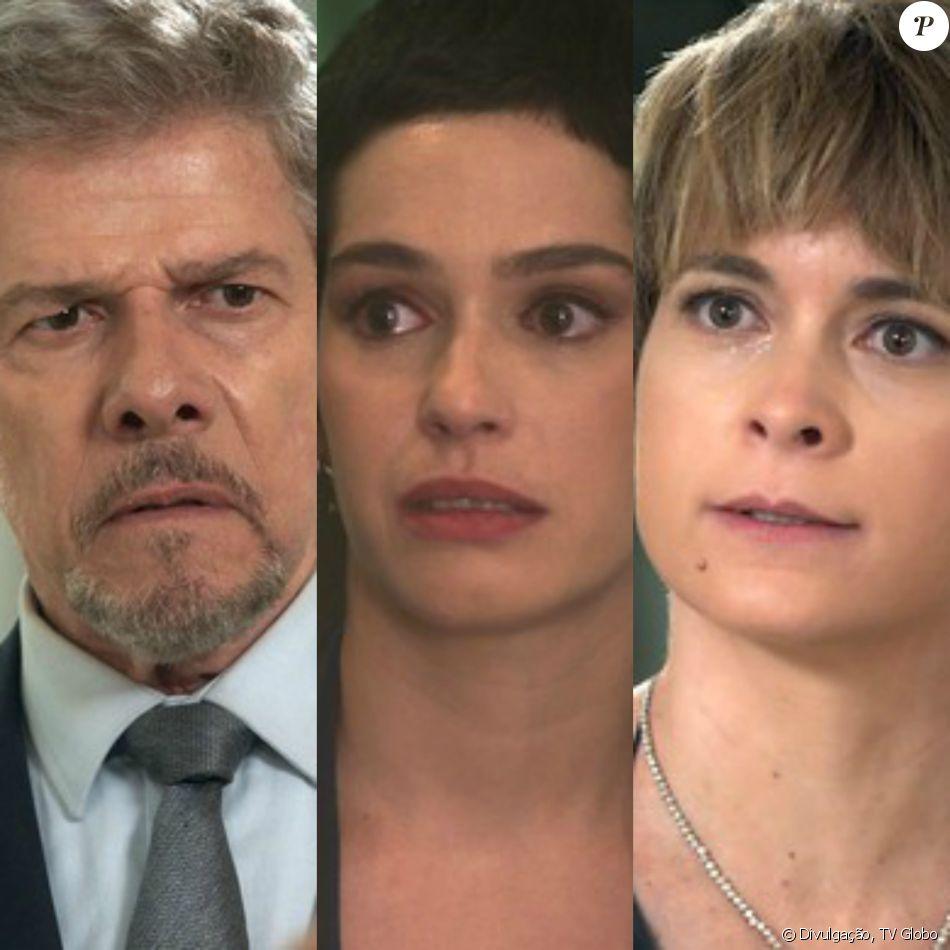 Tião (José Mayer) é agressivo com Flávia (Maria Flor) e Helô (Claudia Abreu) defende a filha adotiva de Salete (Claudia Raia), no capítulo desta quinta-feira, dia 12 de janeiro de 2017, na novela 'A Lei do Amor'