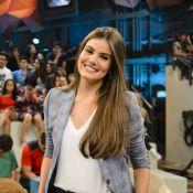 Camila Queiroz diz que Klebber Toledo faz doces para ela: 'Quer te embarangar'