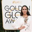 Louise Roe de Monique Lhuillierno Globo de Ouro 2017, em Los Angeles, nos Estados Unidos, na noite deste domingo, 8 de janeiro de 2017