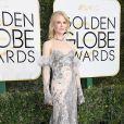 Nicole Kidman de Alexander McQueen no Globo de Ouro 2017, em Los Angeles, nos Estados Unidos, na noite deste domingo, 8 de janeiro de 2017