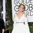 Sarah Jessica Parker de Vera Wang Bridal, inverno 2017,no Globo de Ouro 2017, em Los Angeles, nos Estados Unidos, na noite deste domingo, 8 de janeiro de 2017
