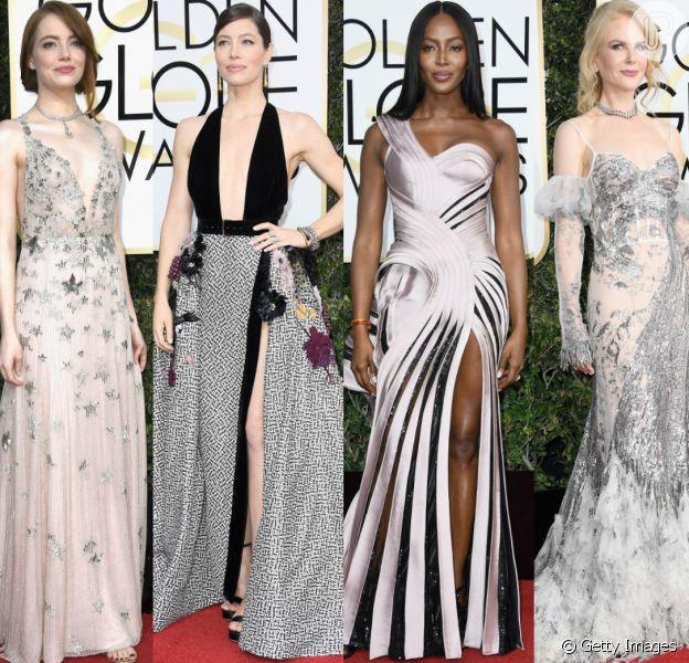 Veja fotos dos looks das famosas no Globo de Ouro 2017, em Los Angeles, nos Estados Unidos, na noite deste domingo, 8 de janeiro de 2017