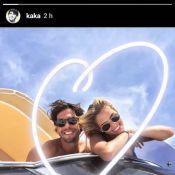 Kaká passeia de barco com filhos e leva nova namorada: 'Tudo tem seu tempo'