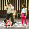 Gabi e Lucca durante os ensaios do 'Dancinha dos Famosos'