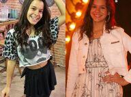 Sósia mirim de Bruna Marquezine, do 'Dancinha', sonha atuar com atriz: 'Sou fã'