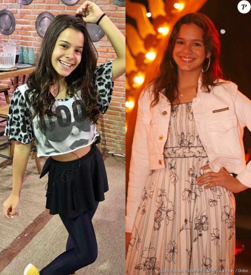 Sobre a semelhança com Bruna Marquezine mais nova, apontada pelos fãs, Gabriella é humilde: 'Não me acho tão parecida assim, eu acho um elogio! Ela é linda!'