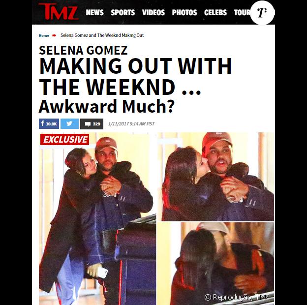Selena Gomez e The Weeknd são clicados pelo site americano 'TMZ'