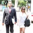 Danielle Winits avalia queixa contra jornalista Leo Dias, prestada nesta quarta-feira, dia 11 de janeiro de 2017