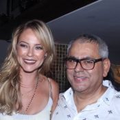 Paolla Oliveira, com cabelo mais loiro para novela, vai à festa de Jayder Soares