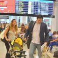 Luciano Szafir embarcou com a mulher, Luhanna Melloni, e o filho do casal, David, no aeroporto Santos Dumont, no Rio de Janeiro,nesta sexta-feira, 31 de janeiro de 2014,