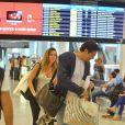 Luciano Szafir embarcou nesta sexta-feira, 31 de janeiro de 2014, com a mulher, Luhanna Melloni, e o filho do casal, David, no aeroporto Santos Dumont, no Rio de Janeiro