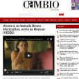 O site Cambio de Puebla chegou a publicar o vídeo da cena onde Bruna aparece com os seios cobertos pela mão