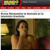 Bruna Marquezine é destaque em sites espanhóis por cena de nudez de 'Em Família'