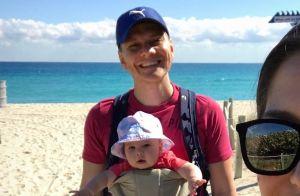 Michel Teló mostra primeiro banho de mar da filha, Melinda: 'Carinha de alegria'