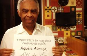 Gilberto Gil agradece a preocupação dos fãs após internação: 'Aquele abraço'