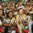 Christiane Torloni foi coroada pela escola do Rio de Janeiro Acadêmicos do Grande Rio como rainha de bateria no Carnaval 2014