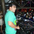 André Marques se apresentou como DJ na festa de comemoração de 10 anos da boate Privilége, em Búzios, Região dos Lagos do Rio de Janeiro, neste fim de semana (15 de fevereiro de 2014)