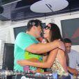 André Marques atacou de DJ na festa de comemoração de 10 anos da boate Privilége, em Búzios, Região dos Lagos do Rio de Janeiro, neste fim de semana