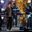 Bruno Mars no BRIT Awards 2014, realizado em Londres na noite desta quarta-feira, 19 de fevereiro de 2014